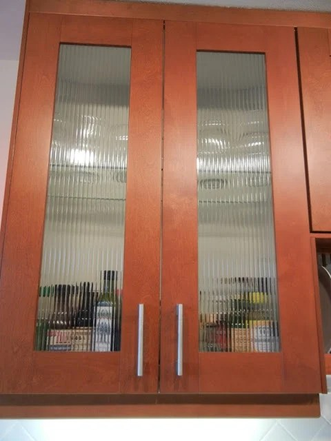 Custom reed glass in ADEL door