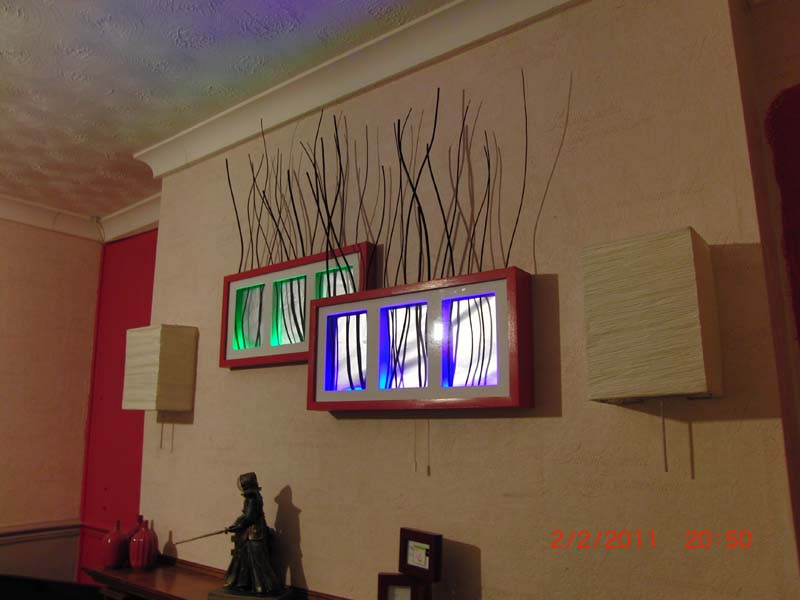 Torked out multi ribba technicolour backlit feature frame for Ikea ribba plank