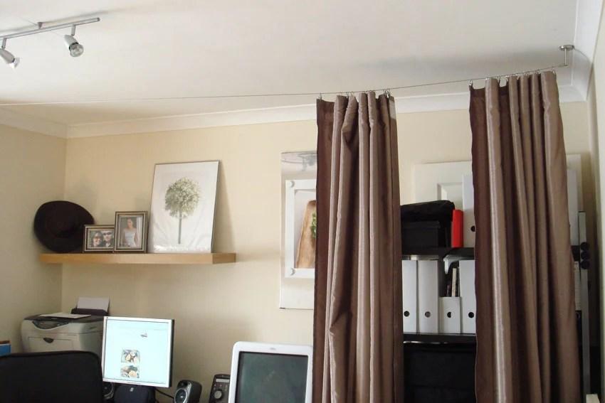 cheryl 39 s cozy room divider ikea hackers. Black Bedroom Furniture Sets. Home Design Ideas