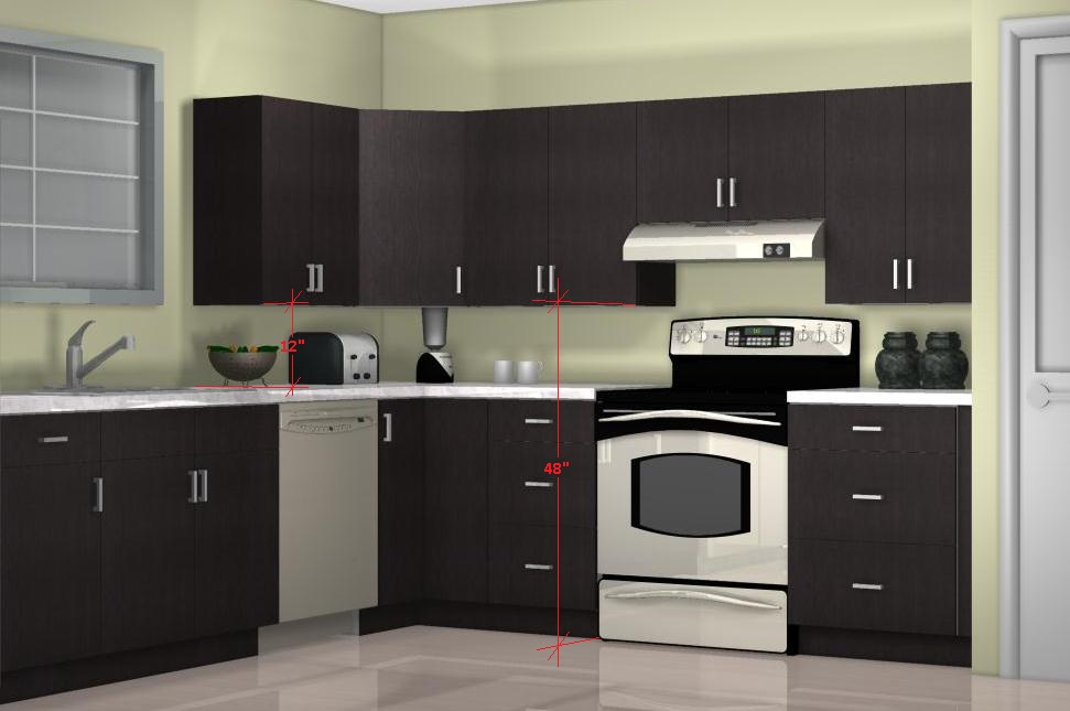 What is the optimal kitchen wall cabinet height