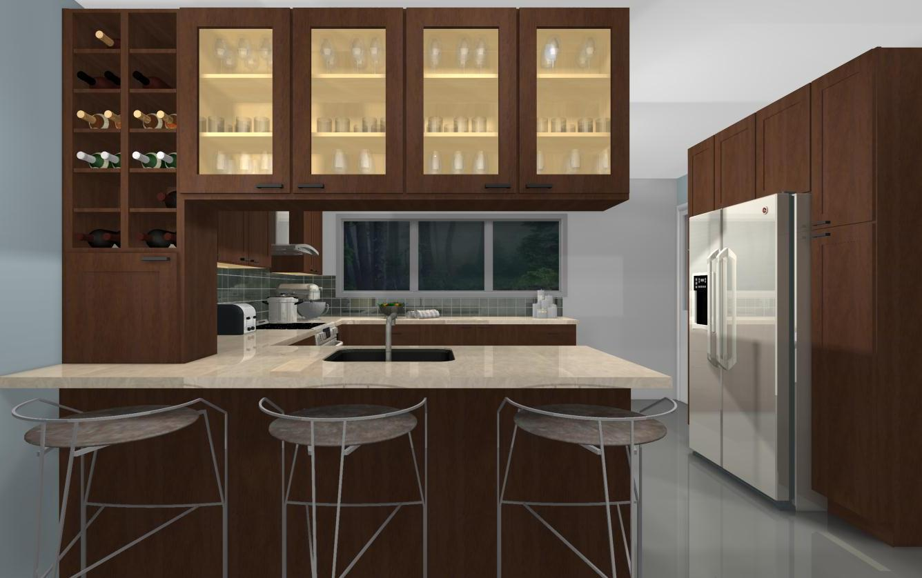 Useful kitchen spaces Peninsulas that work