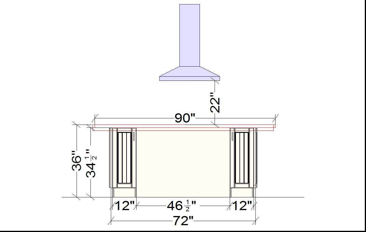 Kitchen Island Measurements House Made Of Paper