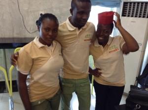L-R: Ese Grace, Ike Amadi, Dara Kunle.