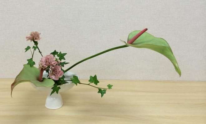 Student Ohara school of Ikebana