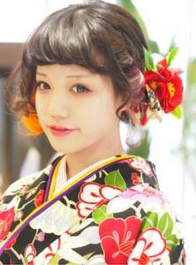 成人式 髪型 ショート アレンジ8