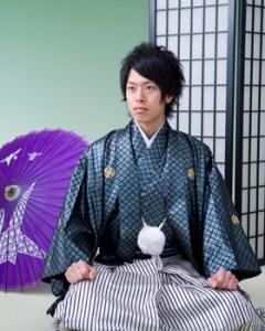 成人式 袴 男 髪型1