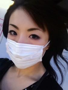 マスク、付け方、美人、6