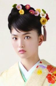 成人式、振袖、髪飾り、女性1