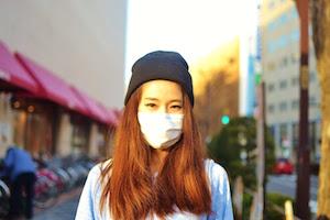 マスク、付け方、美人、9
