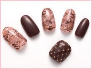 チョコ、ネイル、デザイン、3