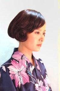 浴衣 女性 ミディアム 髪型、5