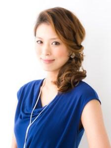 結婚式 ミディアム 髪型 ゲスト 女性、5