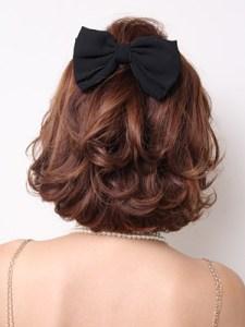 結婚式 ミディアム 髪型 ゲスト 女性、3