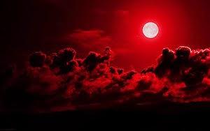 月 地震 予兆 月が赤い