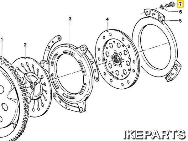IKEPARTS (イケパーツ) / 新品 R80 R100 クラッチ ハウジング ボルト 377BID