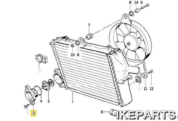 IKEPARTS (イケパーツ) / 新品 K1 K1100 K100 ラジエター キャップ 305BID