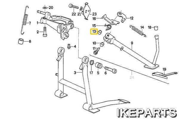 IKEPARTS (イケパーツ) / 新品 K1100 K75 サイドスタンド ブッシュ 315BID