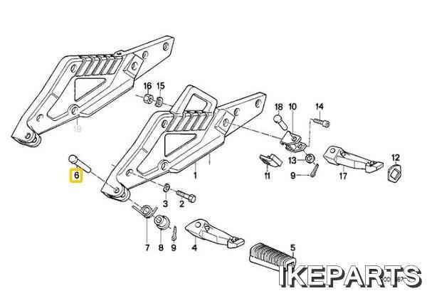 IKEPARTS (イケパーツ) / 新品 R850 R1100 K1 K100 ステップ ピン 323BID