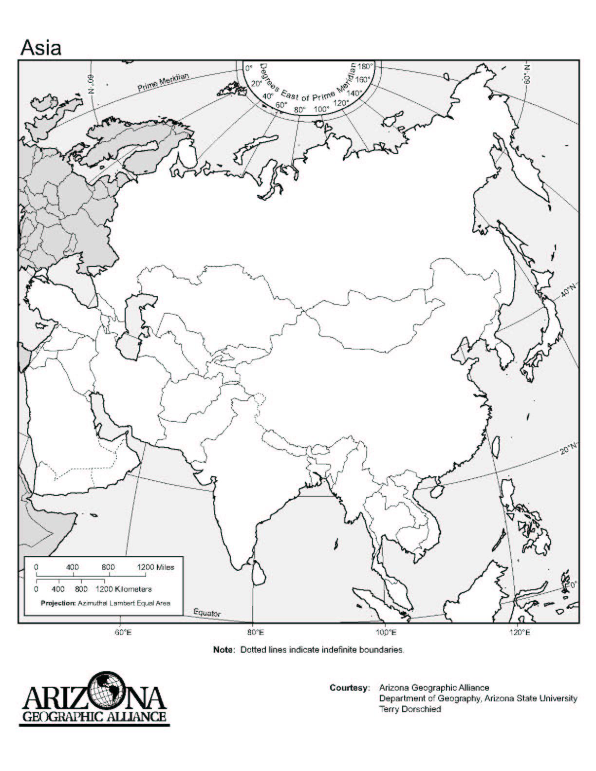 Blank Map Of Asia Ks2