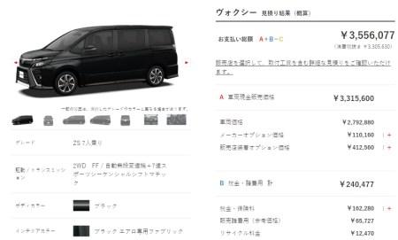 新型ヴォクシーの見積もり結果発表!乗り出し価格の総額は値引き込みで310万円!?おすすめのオプション、アクセサリーはこれ!