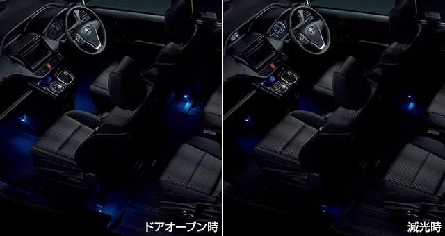 新型ヴォクシーインテリアイルミネーション(2モードタイプ・5灯)