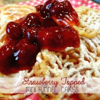 Recipe: Strawberry Topped Mini Funnel Cakes