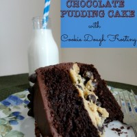 Recipe: Chocolate Pudding Cake with Cookie Dough Frosting