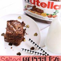 Recipe: Salted Nutella Brownies