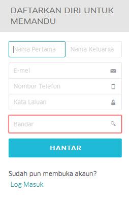 cara daftar uber driver malaysia