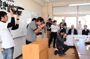 NBC長崎放送や地元メディアが取材