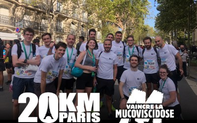 20 kms of Paris – Charity run for « Vaincre la Mucoviscidose » (Cystic Fibrosis)