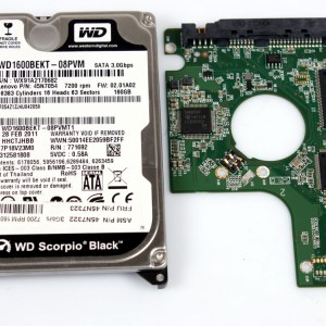 WD WD1600BEKT-08PVM 160GB 2,5 SATA HARD DRIVE / PCB (CIRCUIT BOARD) ONLY FOR DATA