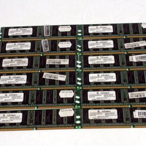 12 ADET INFINEON 256MB DDR PC2700U 400MHz HYS64D32300GU-6-B