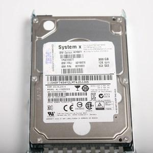 "IBM 300GB 6G 10K 2.5"" SAS Hard Drive & Kızak 90Y8878 AL13SEB300"