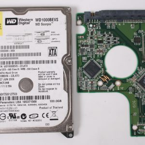 WD WD1000BEVS-22LAT0 100GB 2,5 SATA HARD DRIVE / PCB (CIRCUIT BOARD) ONLY FOR DATA