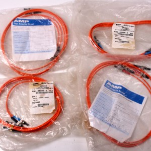 4 X AMP System 2 Meters ST-ST Optic Cable DUPLEX 62.5/125