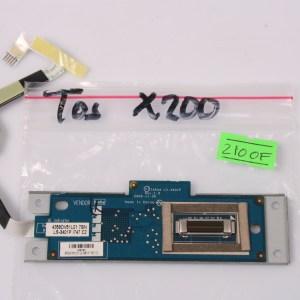 TOSHIBA Satellite X205 X200 FingerPrint Reader Board & Cable /W Metal Frame LS-3401P
