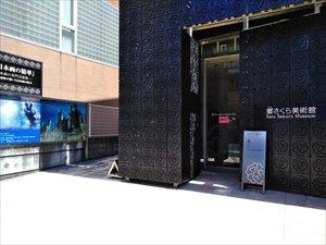 美術館の展示室は3フロア構造