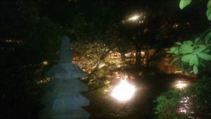 椿山荘の蛍狩り