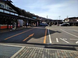 土産屋「杜乃風」の駐車場