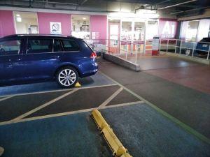 イオンの身障者向け専用駐車場