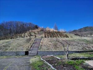 群馬 花桃街道終着駅 中之条山の上庭園 車椅子散策バリアフリー情報