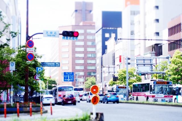 福岡アイランドシティのバス停にバリアレス縁石