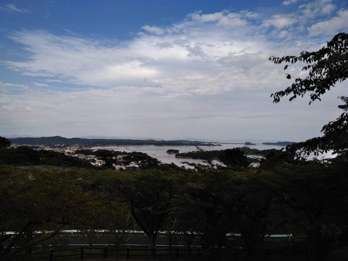 松島を眺望 西行戻しの松公園