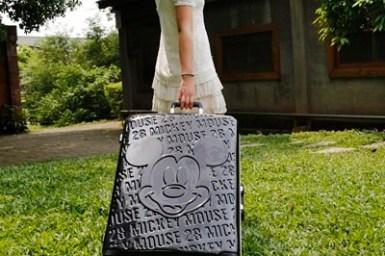【出國行李箱推薦】Deseno迪森諾1928華特 Disney迪士尼米奇復刻經典PC鏡面鋁框旅行箱