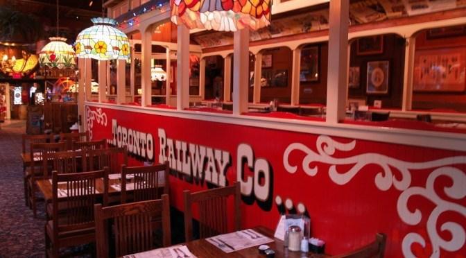 """イタリアンレストラン""""The Old Supagethi Factory""""で渡米初の外食"""