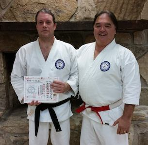 IKKU Awards Shodan to James Filsinger