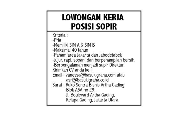 Loker Driver Olx Jakarta Utara