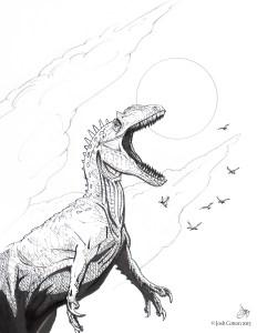 Allosaurus, by Josh Cotton
