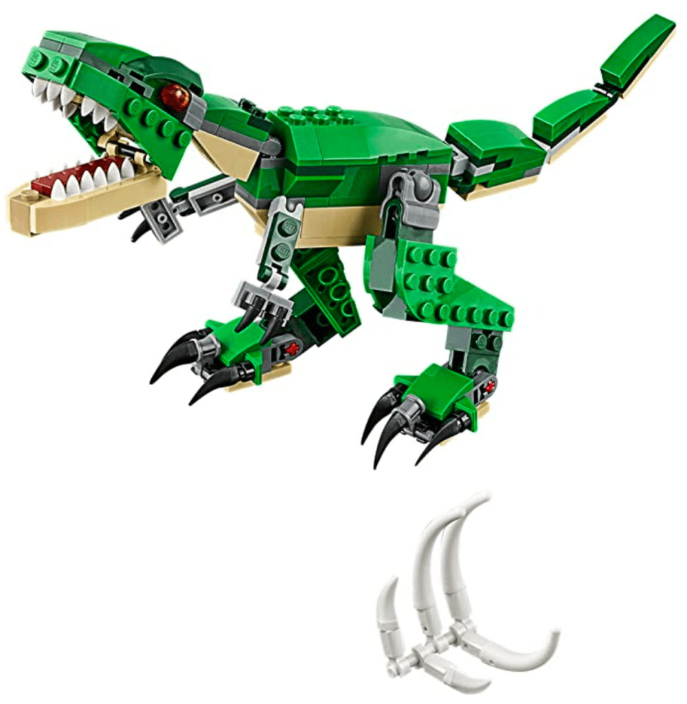 LEGO Creator Mighty Dinosaurs 31058 Build It Yourself Dinosaur Set, Create a Pterodactyl, Triceratops and T Rex Toy
